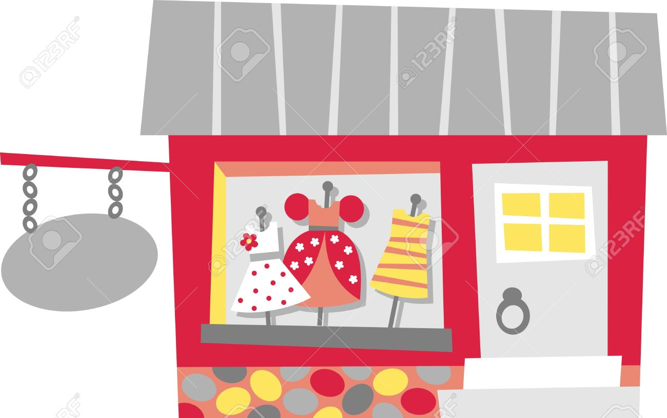 Clothing Store Royalty Free Cliparts, Vectors, And Stock.