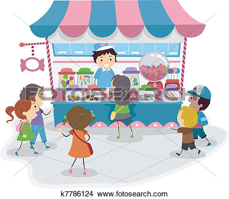 Clipart of Candy shop k12859024.