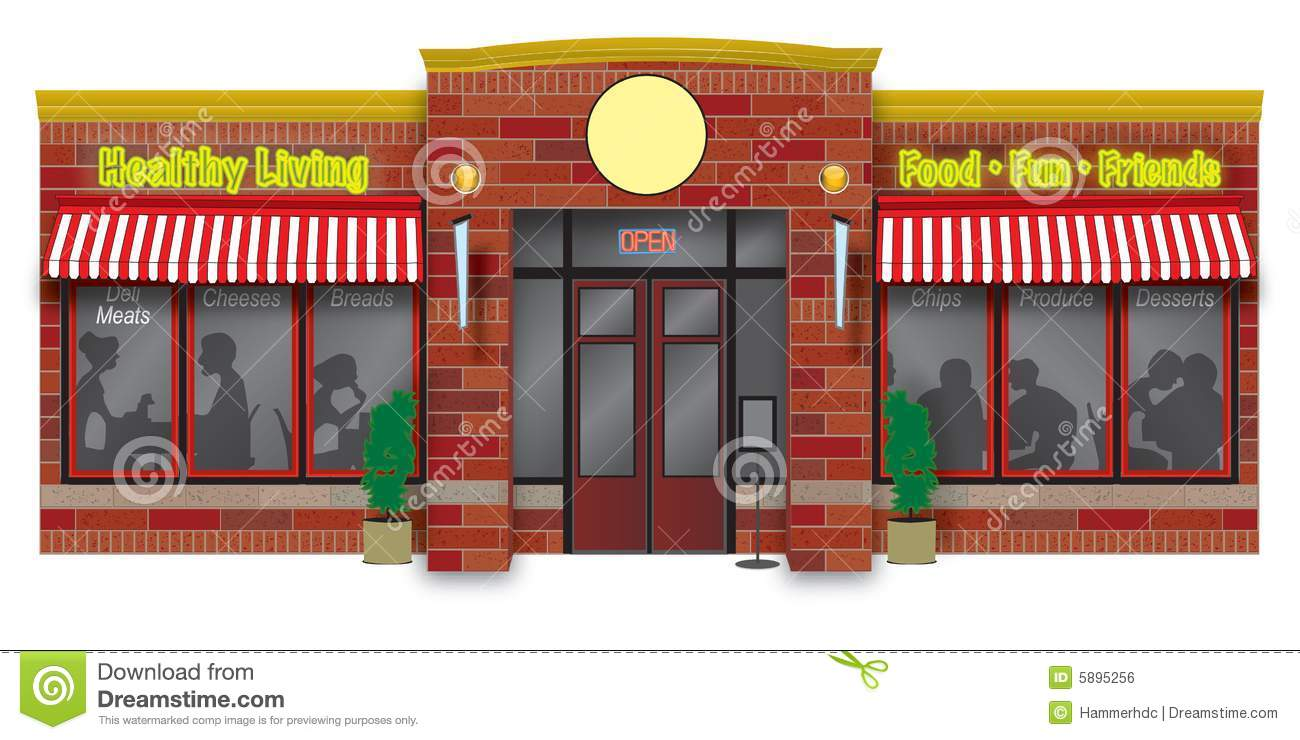 Storefront Stock Illustrations.