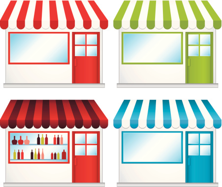 Clothing Store Silhouette Clip Art, Vector Images & Illustrations.