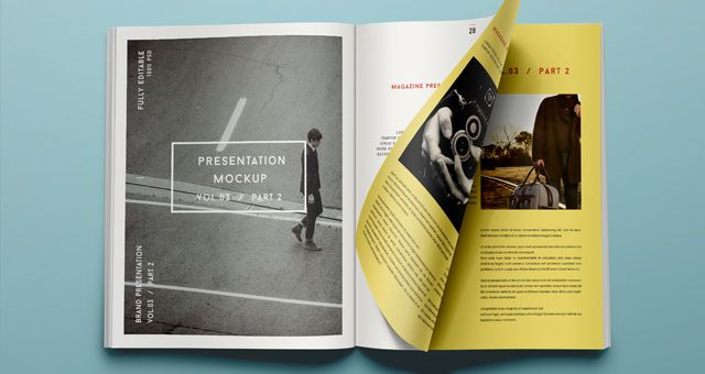 Psd Magazine Mockup View Vol3.