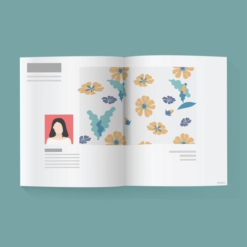 Modern magazine vector.