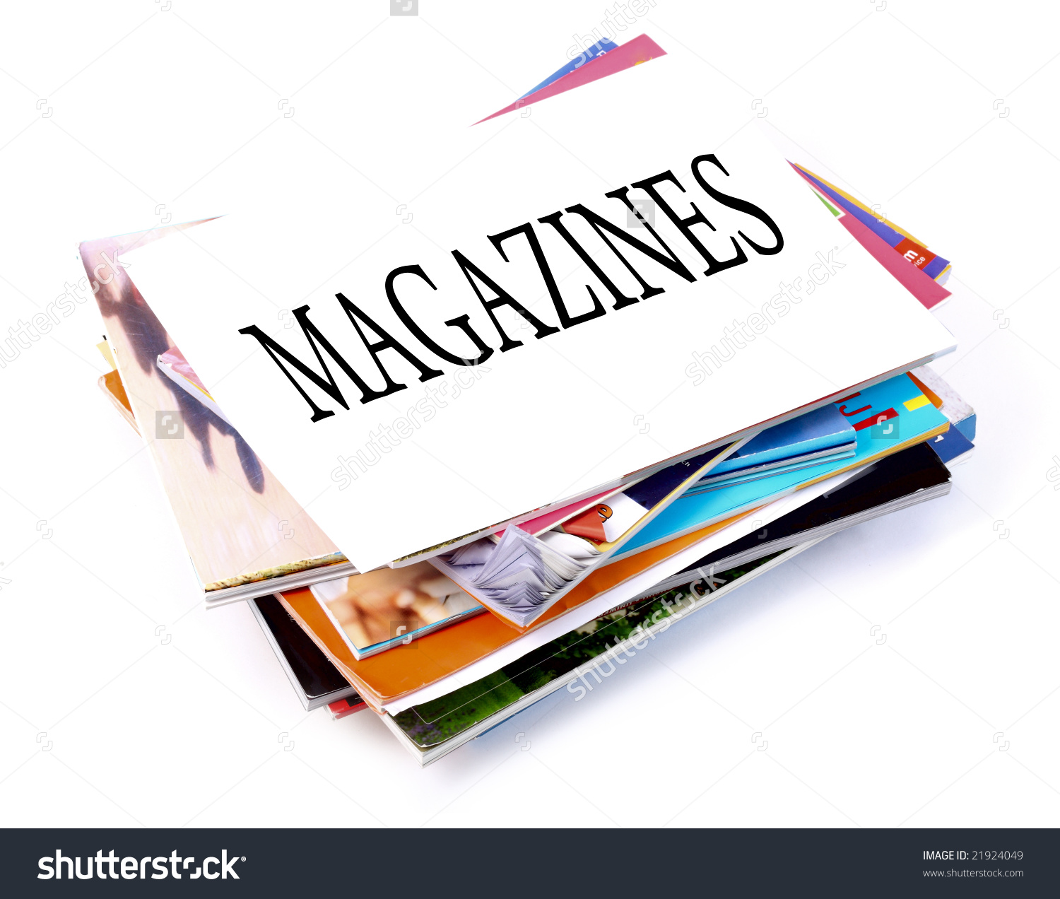 Stack of magazines clip art.
