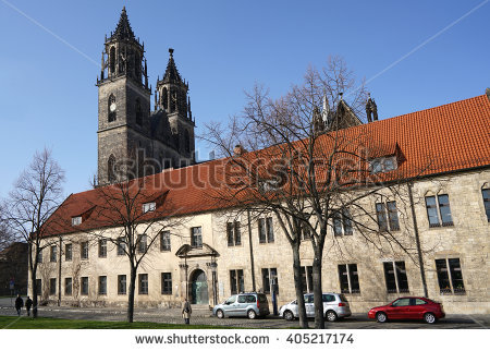 Magdeburg Cathedral Stock Photos, Royalty.