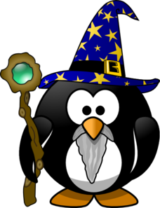 Magician Penguin Clip Art at Clker.com.
