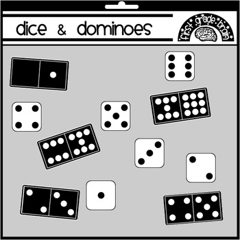 Dice and Dominoes Clipart Graphics FREE by Mrs Magee.