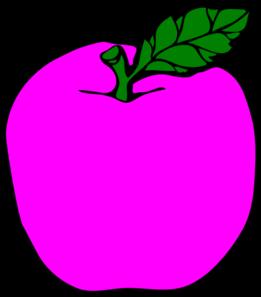 Magenta Apple Clip Art at Clker.com.