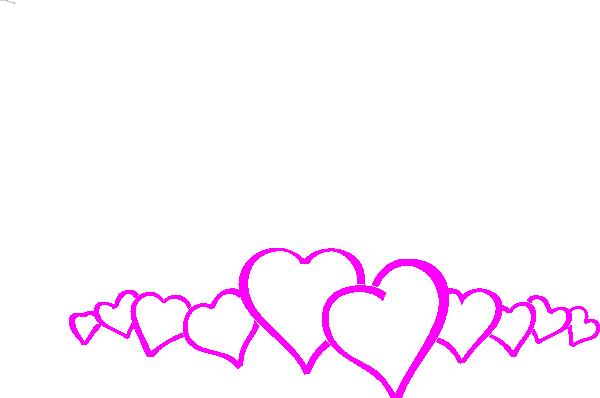 Magenta Heart Border Clip Art at Clker.com.