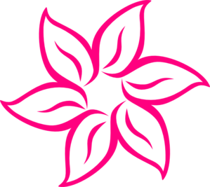 Magenta Flower Image Clip Art at Clker.com.