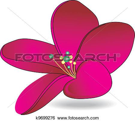 Clip Art of Flower magenta k9699276.