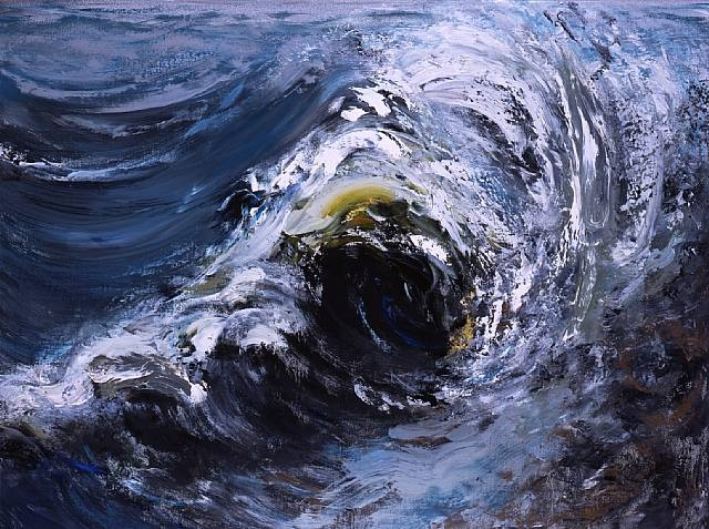 Wave Breaking, October II by Maggi Hambling.