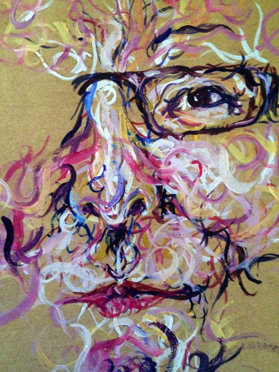 My Maggi Hambling style portrait in oils.