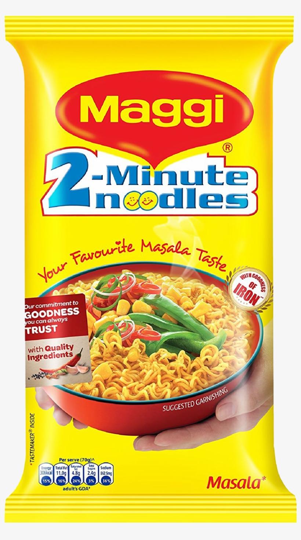 Maggi 2 Minute Noodles Masala 70g Transparent PNG.