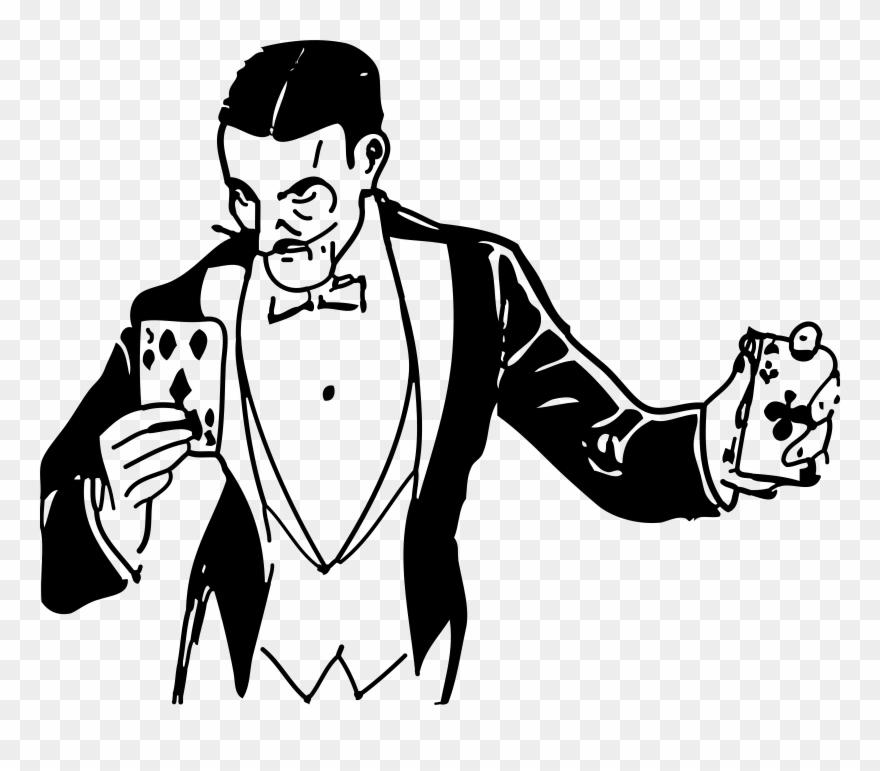 Cards Clipart Magic Trick.