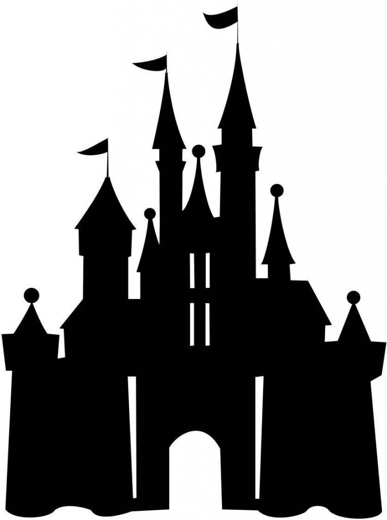 Magic kingdom castle outline clipart.