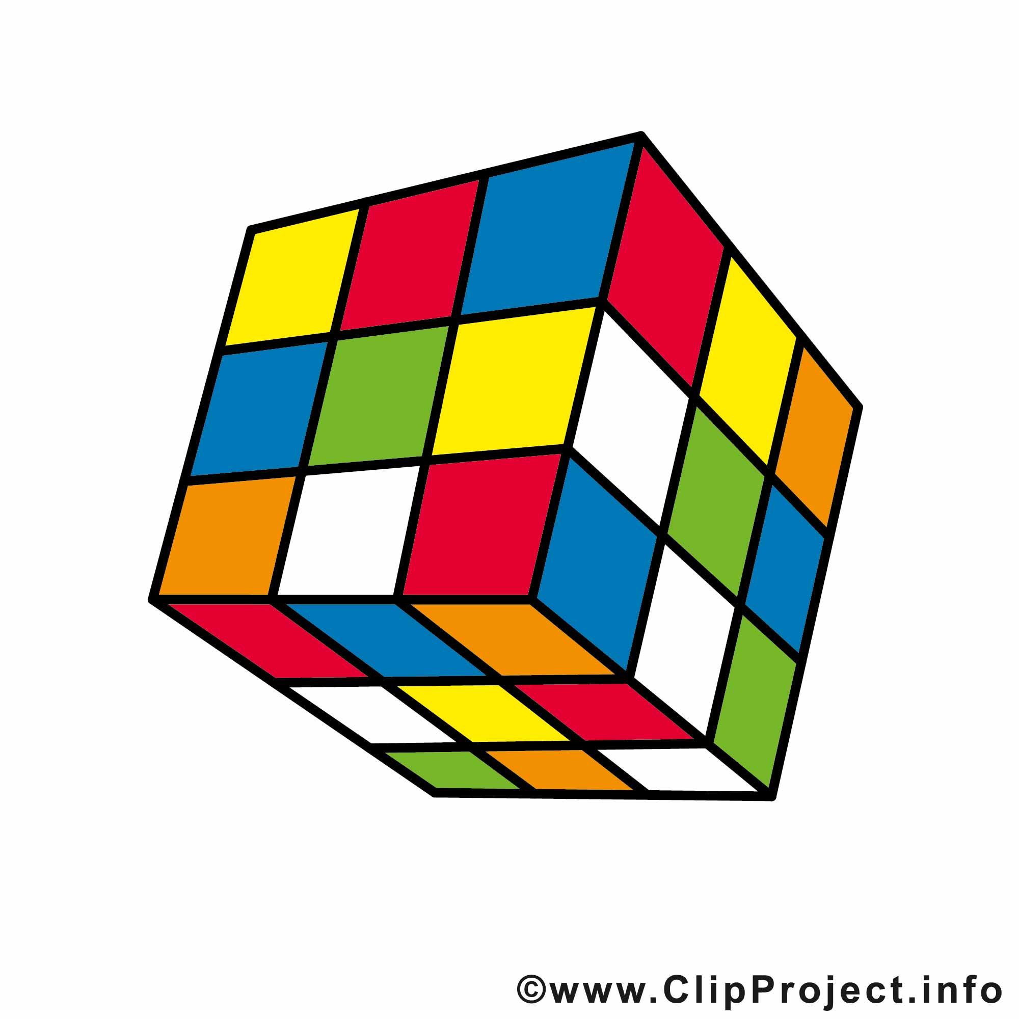 Rubix cube clip art.
