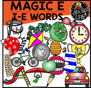 \'Magic e\' i_e Words Clip Art Bundle {Educlips Clipart}.