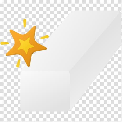 Angle yellow font, Magic eraser tool transparent background.