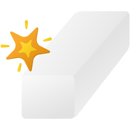Magic eraser tool Icon.