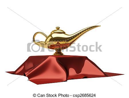 Clipart of Aladdin lamp.