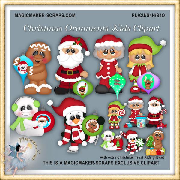 Christmas Candyland Clipart [Kristi W Design].