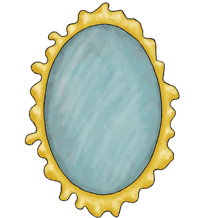 Magic mirror clipart.