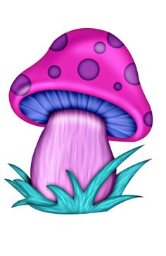 Psychedelic mushroom clipart.