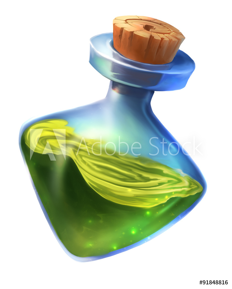 Photo & Art Print Magic Potion Clipart.
