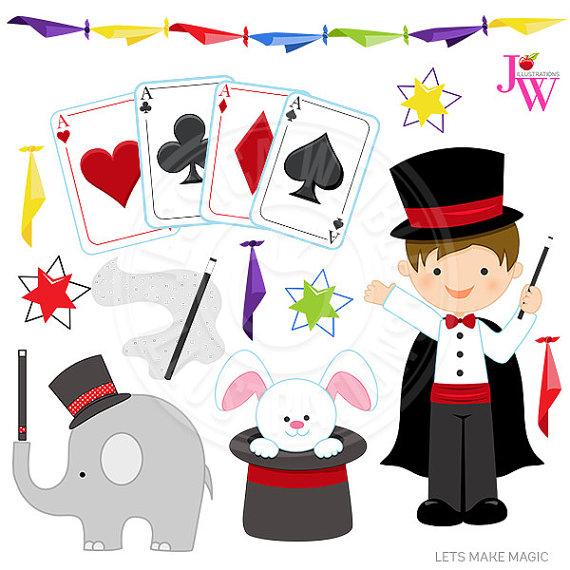 Lets Make Magic Cute Digital Clipart, Magic Clip art, Magician kid.