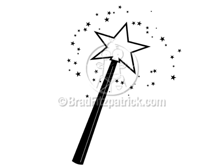 Magic wand clipart black and white 6 » Clipart Station.
