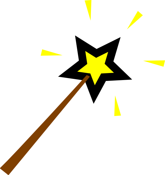 Magic Wand Cartoon Clipart No Background.