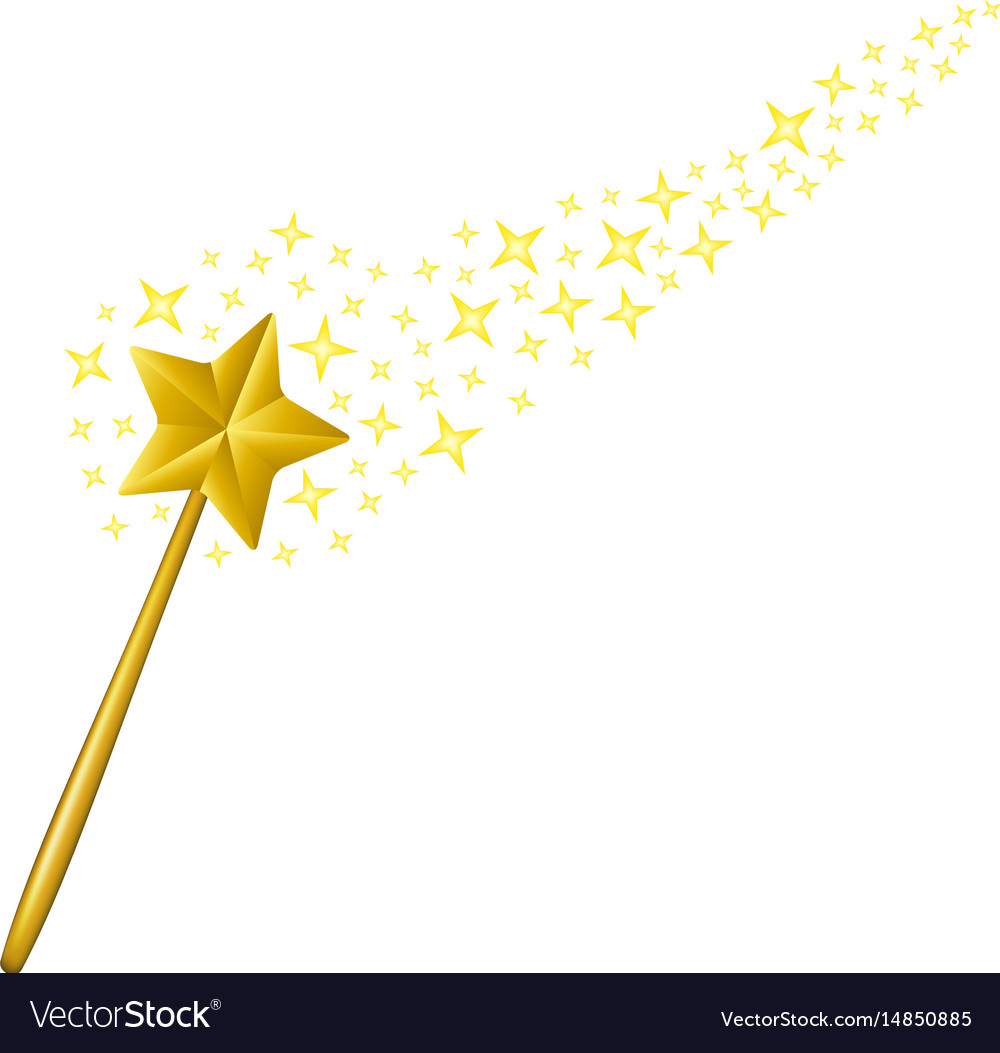 Magic wand with stars.