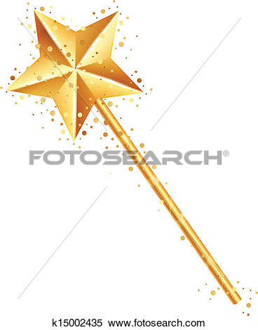 Clipart of Vector illustration of magic wand k15002435.