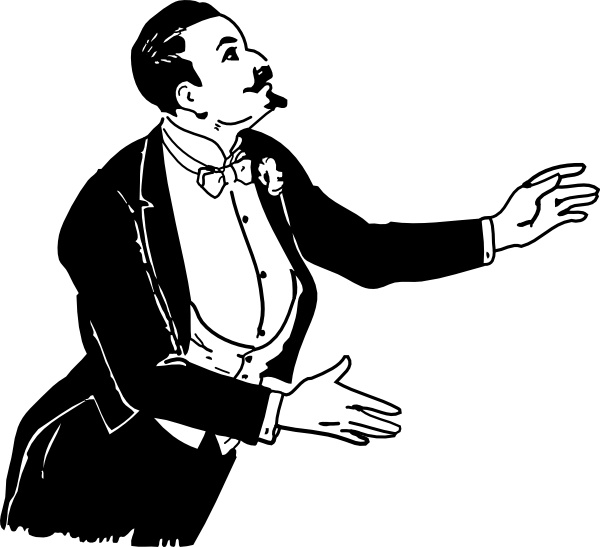 Magician clip art Free vector in Open office drawing svg ( .svg.