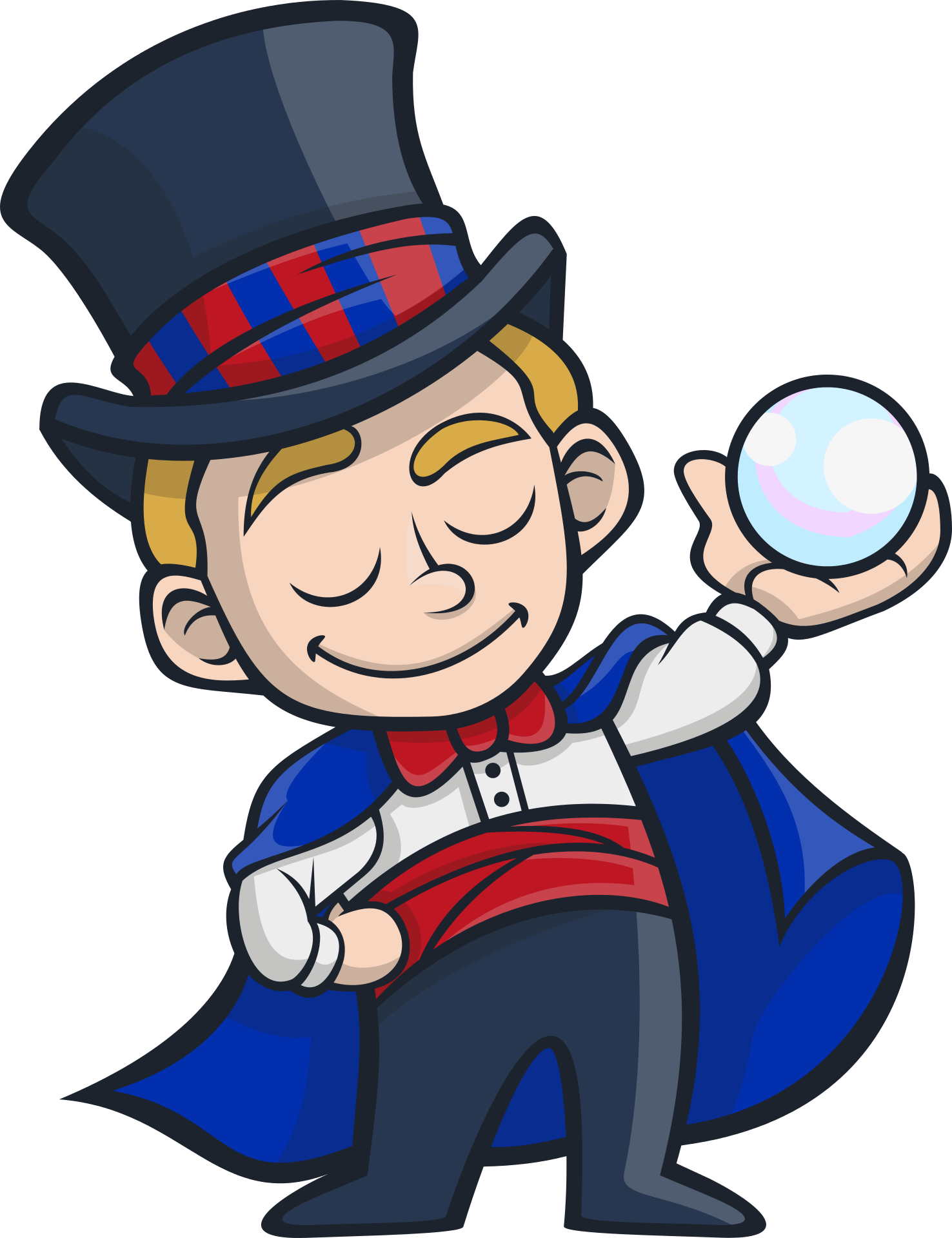 Mysterious magician clipart free image.
