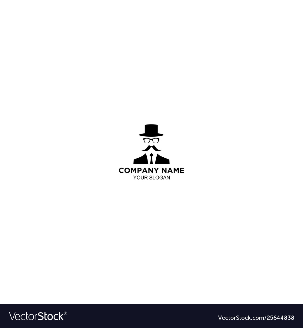 Simple magician logo design template.