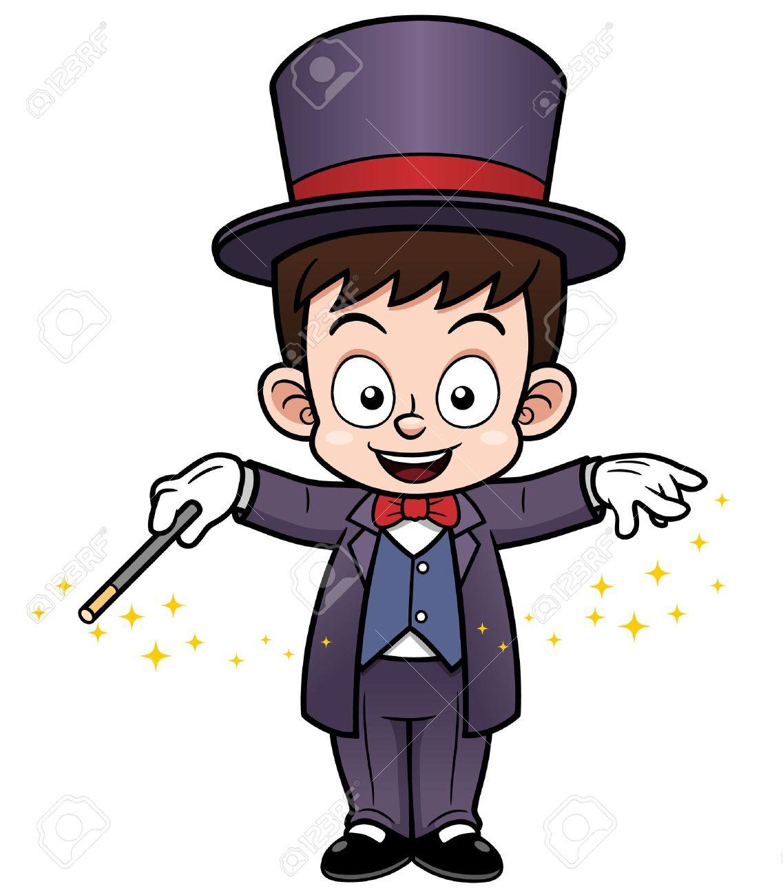 Cartoon magician clipart.