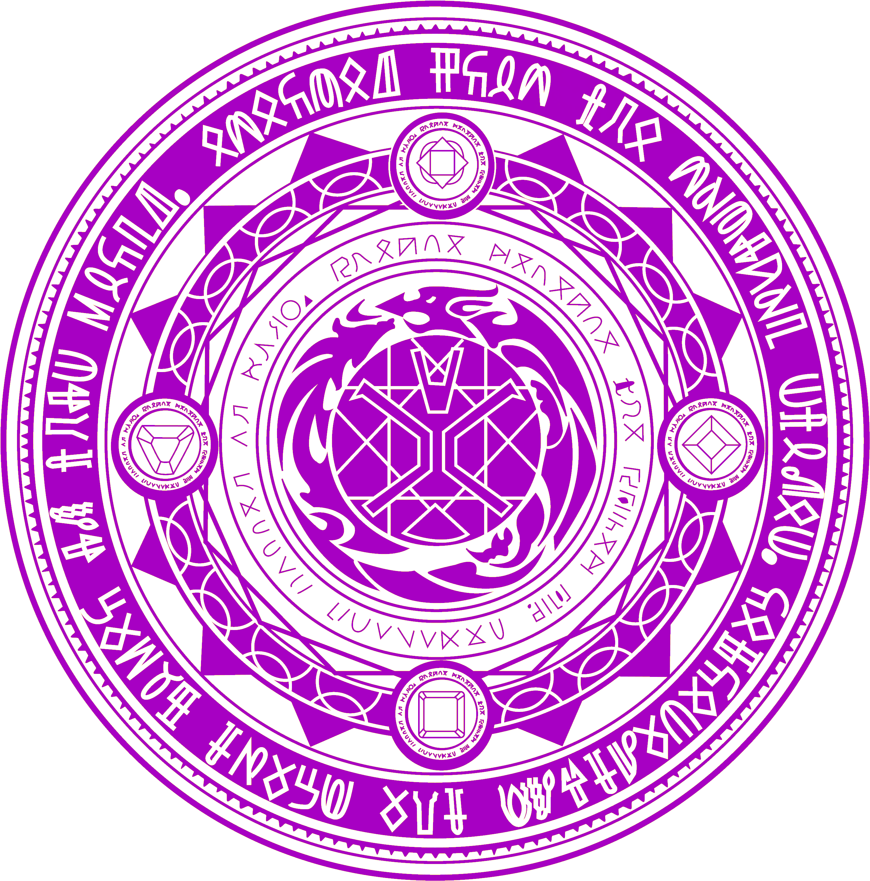 Spell Circle, Magick, Witchcraft, Wiccan, Alchemy Symbols.