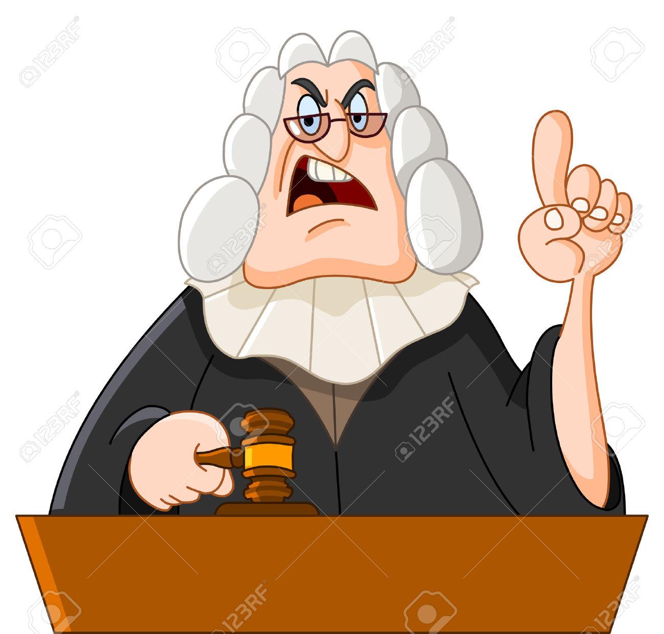 Cartoon judge clipart.