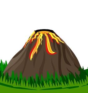 Volcano Clipart Image.