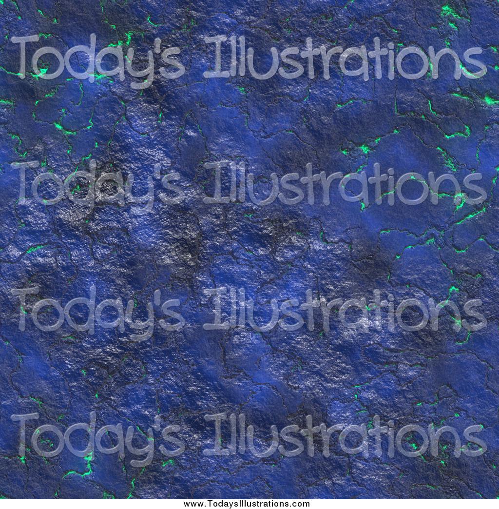 Clipart of a Seamless Blue Molten Lava Magma Texture.