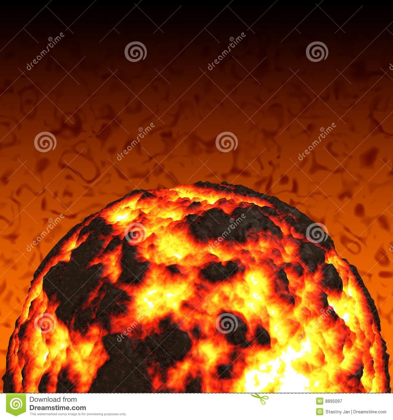 Magma Ball Royalty Free Stock Photography.