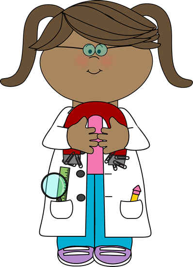 Kid Scientist with a Magnet Clip Art.