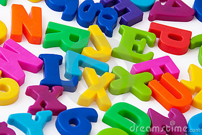 Magnetic Alphabet Stock Photos.
