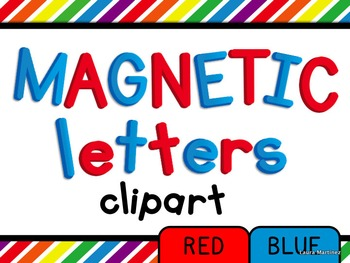 Magnetic Letters Clipart by Teacher Laura.