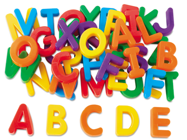 Magnetic Letters Clipart.
