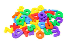 Small Magnet Letters Royalty Free Stock Photos.