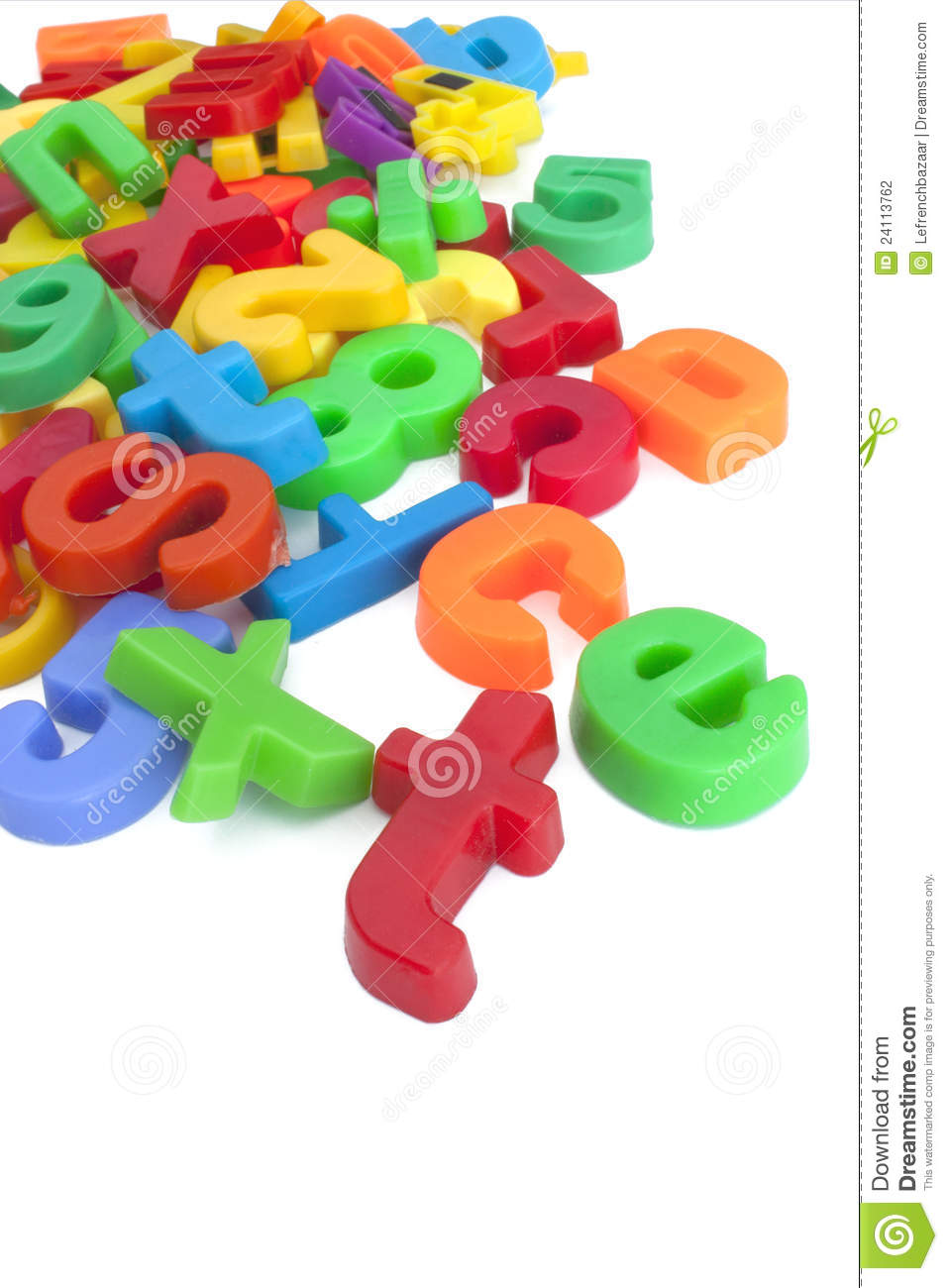 Magnetic Letters And Numbers Stock Photography.