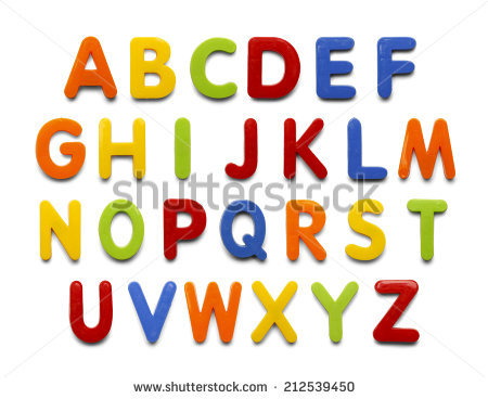 Magnetic Letters Stock Images, Royalty.