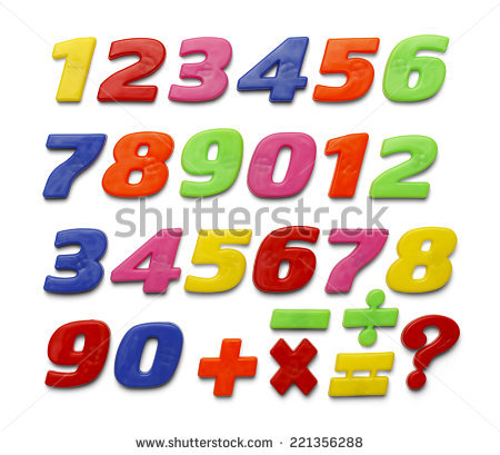 Magnetic Numbers Stock Images, Royalty.